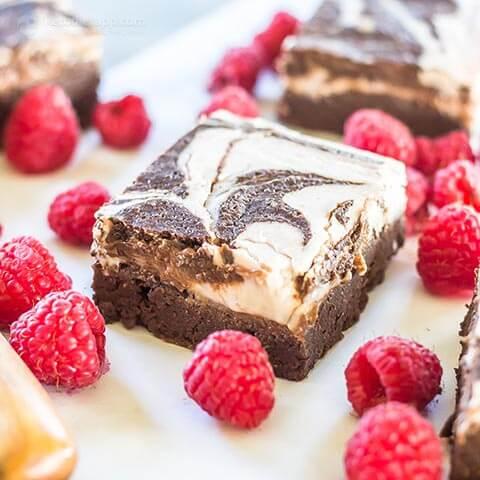 18. Raspberry Cheesecake Keto Brownies