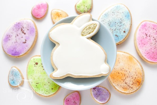 19. Decorated Easter Bunny And Easter Egg Cookies