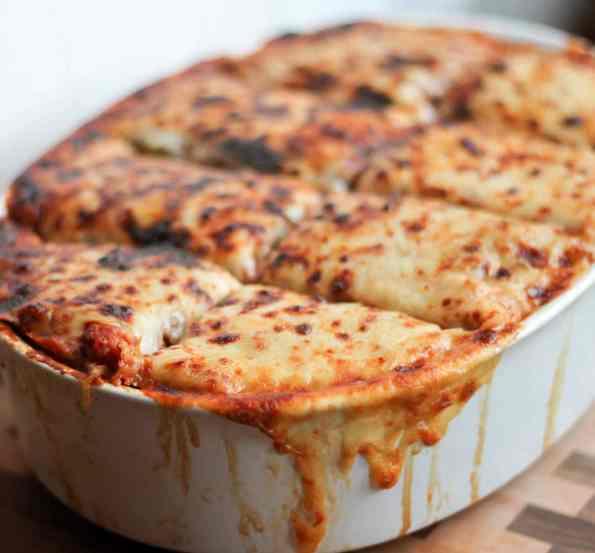 27. Low Carb Keto Cheesy Sausage And Spaghetti Squash Casserole