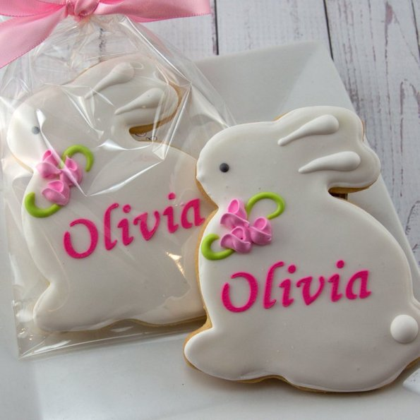 5. Personalised Easter Bunny Decorated Cookies