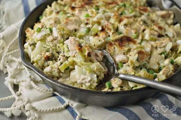 8. Cabbage Noodle Tuna Casserole Low Carb Gluten Free