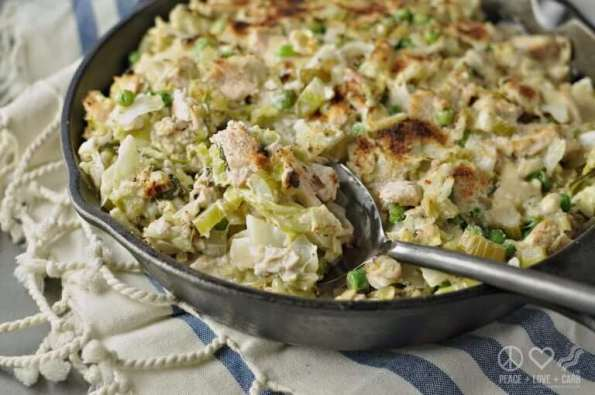 8. Cabbage Noodle Tuna Casserole Low Carb Gluten Free