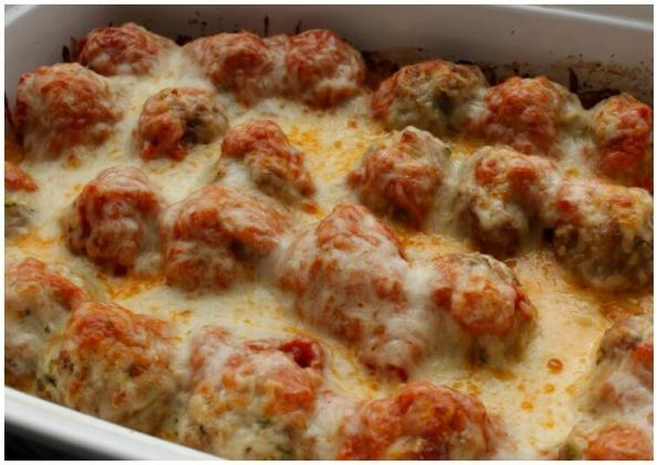 9. Keto Low Carb Meatball Casserole