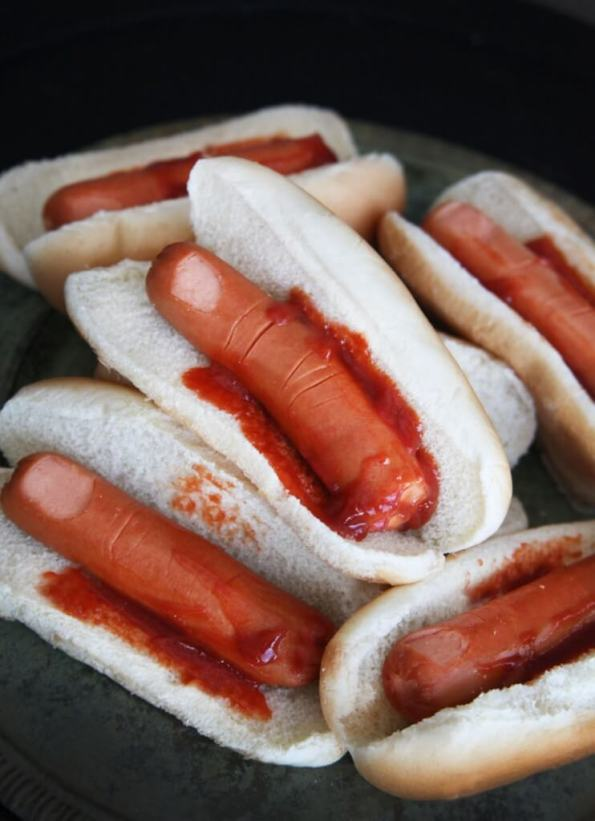 13. Severed Fingers In A Bun Easy Halloween Food Digital Train