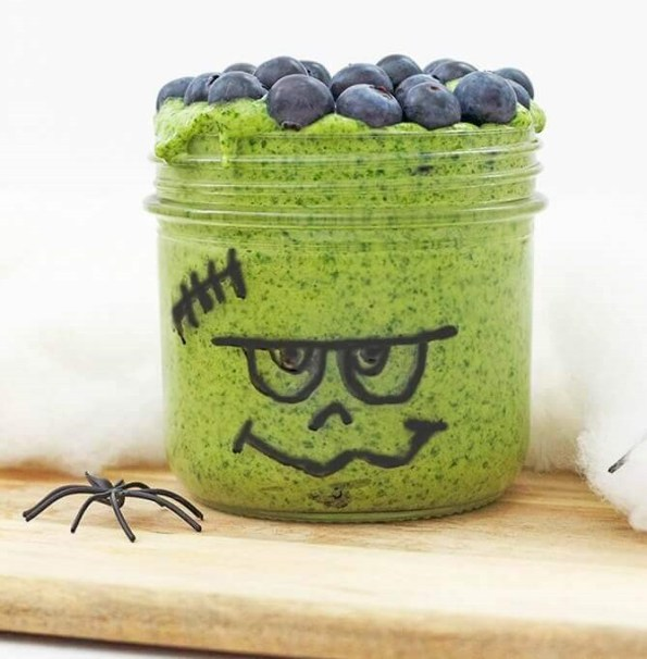 2. Frankenstein Smoothie Bowl Healthier Halloween Snacks Easy Hallowen Food Ideas Digital Train 2