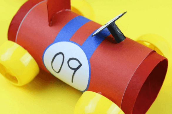 4. Toilet Paper Roll Racing Cars
