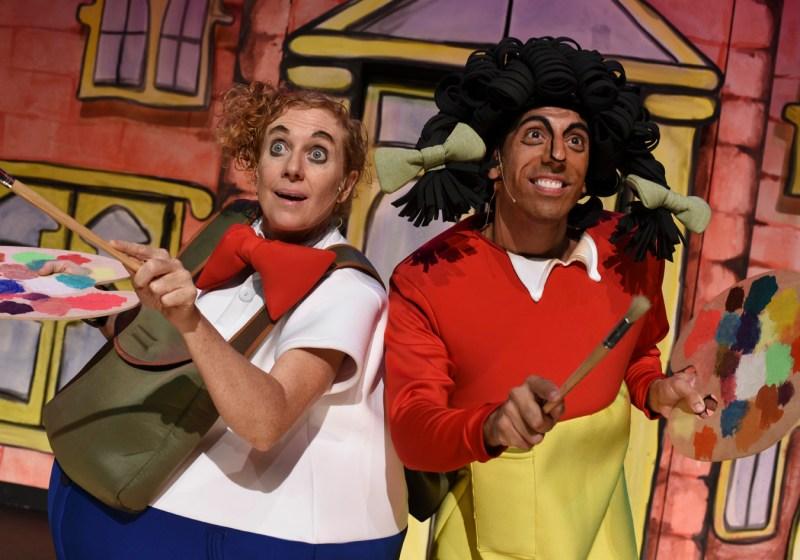 Kate Smith as Athol and Nat Jobe as Harriet in Horrible Harriet (photo Heidrun Lohr)