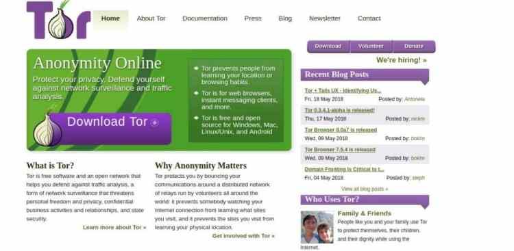 Tor Project Screenshot