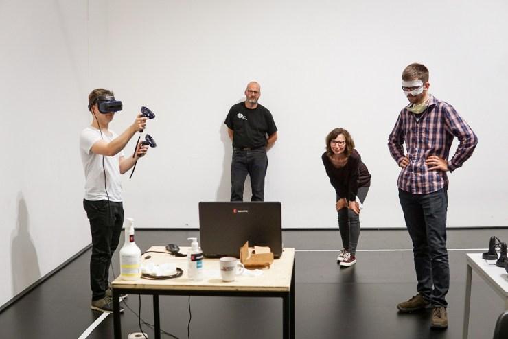 (v.l. Vincent Kaufmann, Lutz Hoffmann, Grit Dora von Zeschau und Robert Rott)
