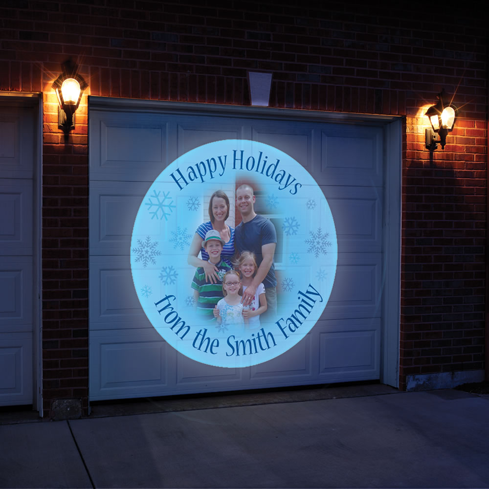 The Personalized Holiday Greeting Outdoor Projector