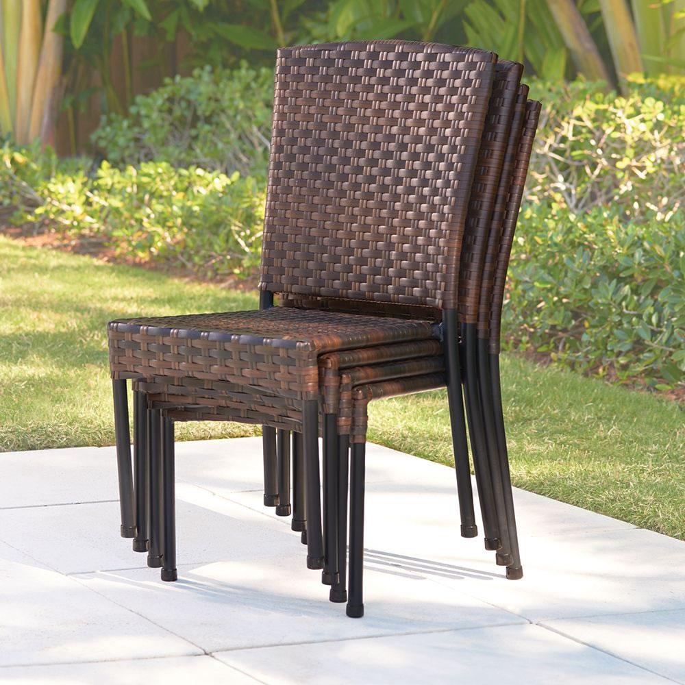 the stackable wicker chairs hammacher