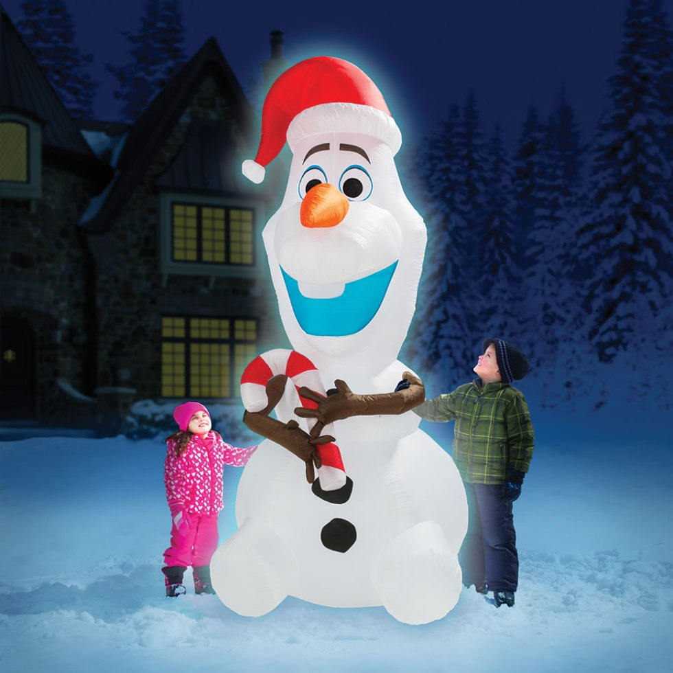 The 8' Inflatable Olaf - Hammacher Schlemmer