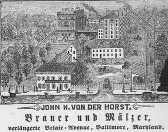 Image of John H. Van Der Horst. Brauer und Mälzer, verlängerte Belair-Avenue, Baltimore, Md.
