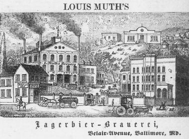 Image of Louis Muth's Lagerbier-Brauerei, Belair-Avenue, Baltimore, Md.