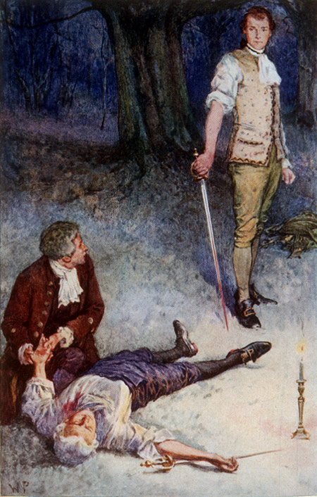Illustration for the 1911 edition of The Master of Ballantrae by Walter Paget.
