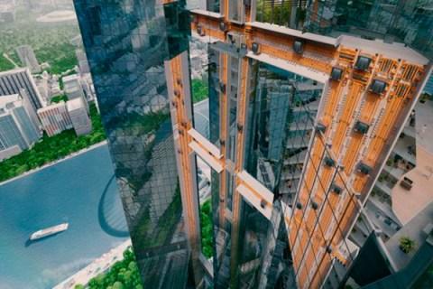 Crean el primer ascensor que funciona sin cables