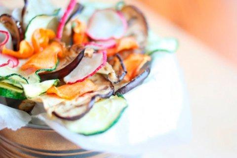 Chips de Verduras al horno, un «snak» saludable