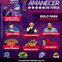 ¡Gran Amanecer de Feria en Sabor a Colombia!