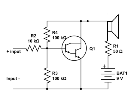 1 Watt audio Amplifier