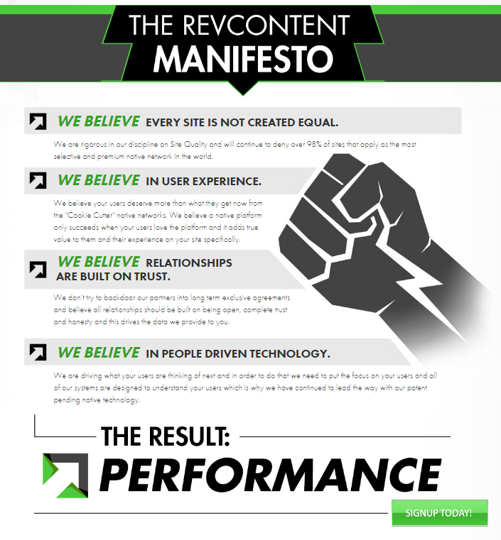The Revcontent manifesto