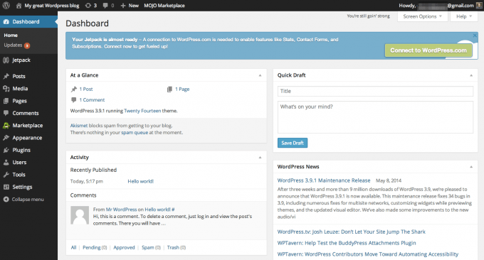 18-WordPress Dashboard