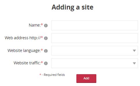 adding a site in adnow