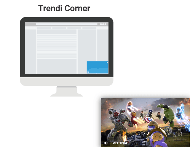 trendi corner playwire example