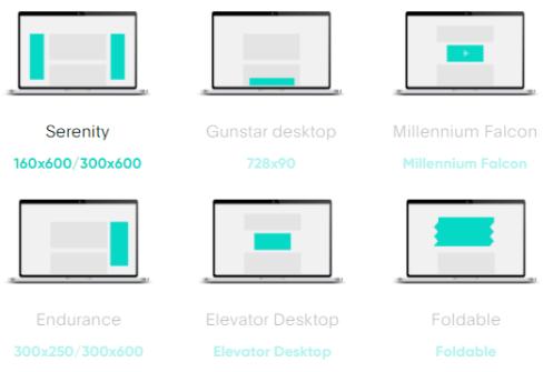 next millenium desktop ad units