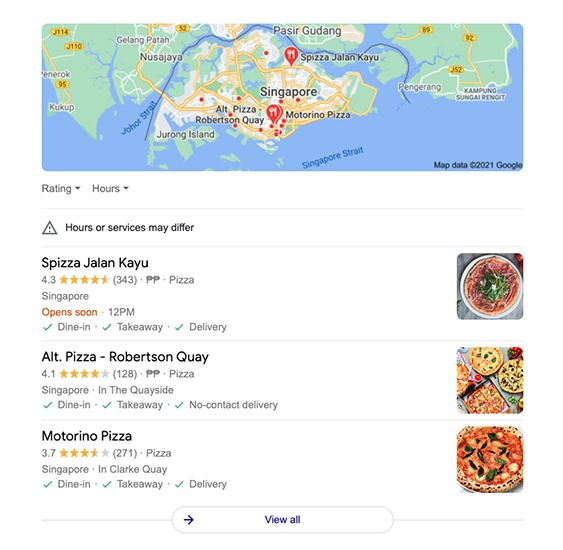 google-local-pack-displaying-essential-information