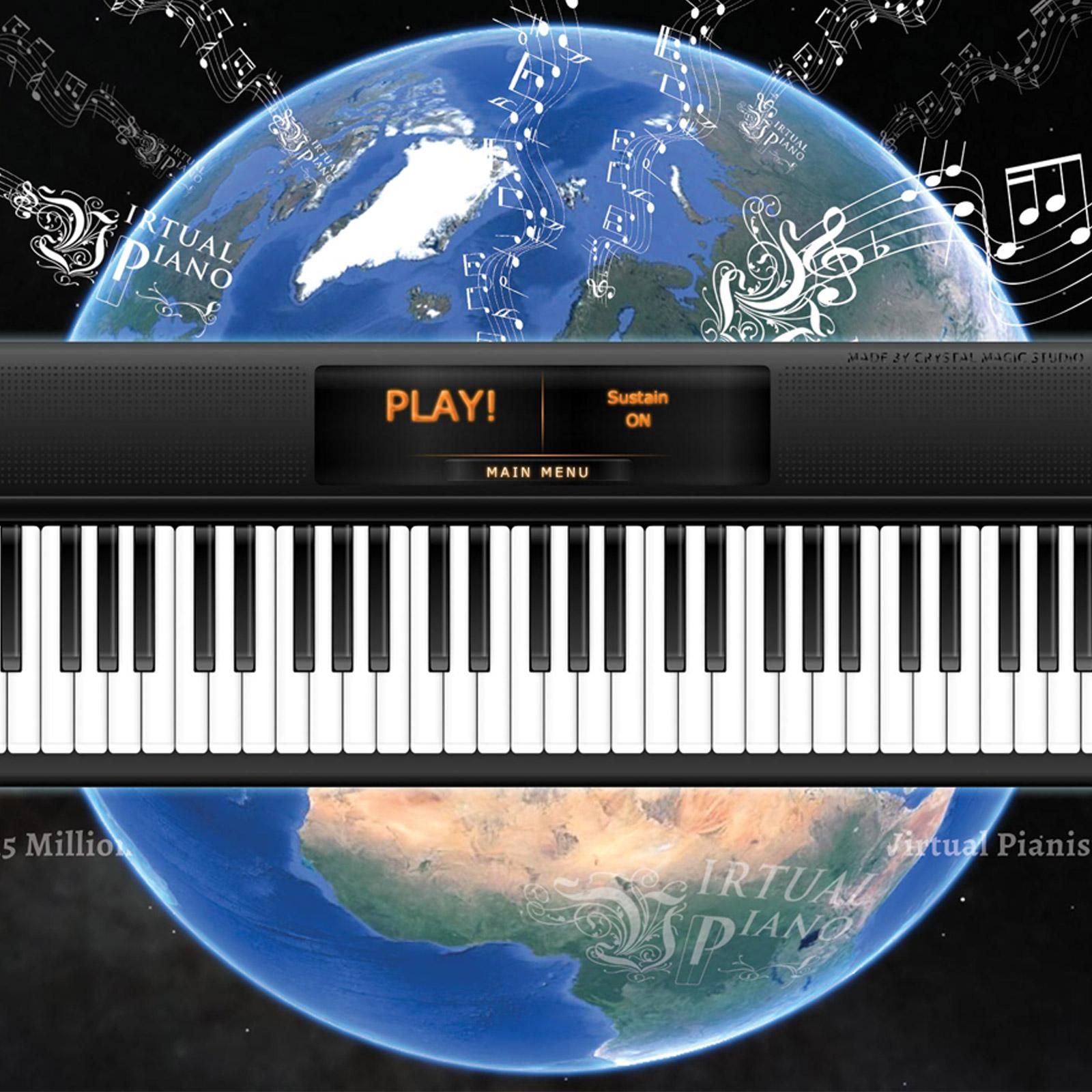 Online piano app, Virtual Piano