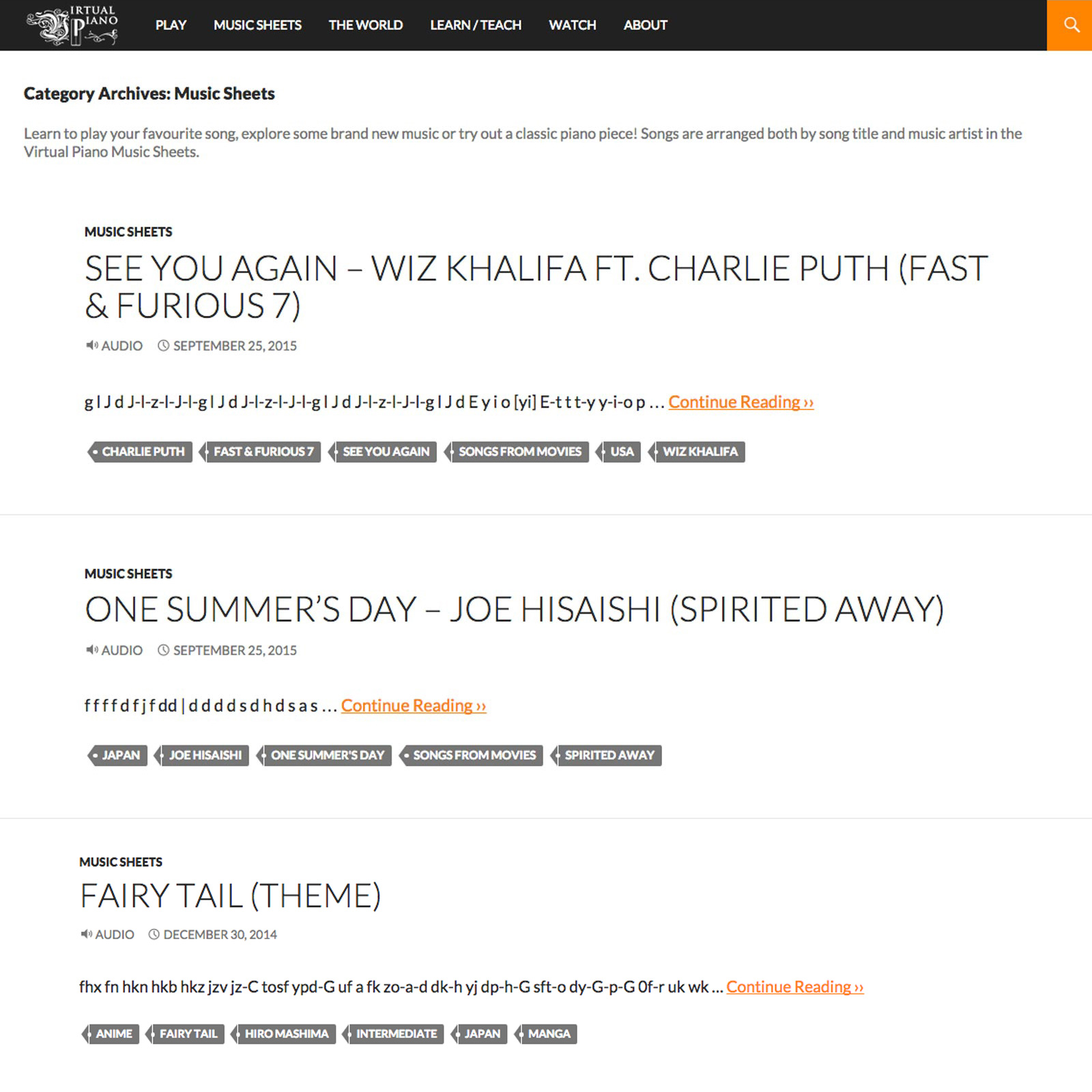 Web Development for online piano app, Virtual Piano - Digital Agency