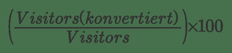 Definition Conversion Rate nutzerbezogen