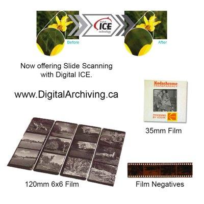 Slide Scanning Regina, 35mm, 120mm, negatives