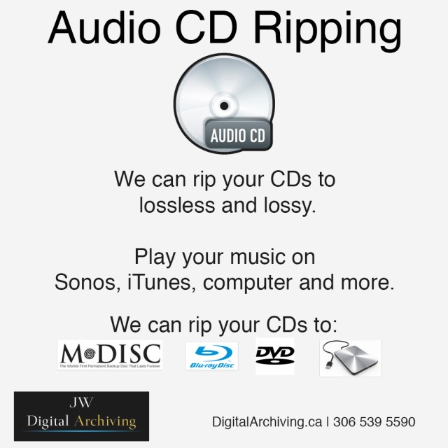 Audio CD ripping service Regina