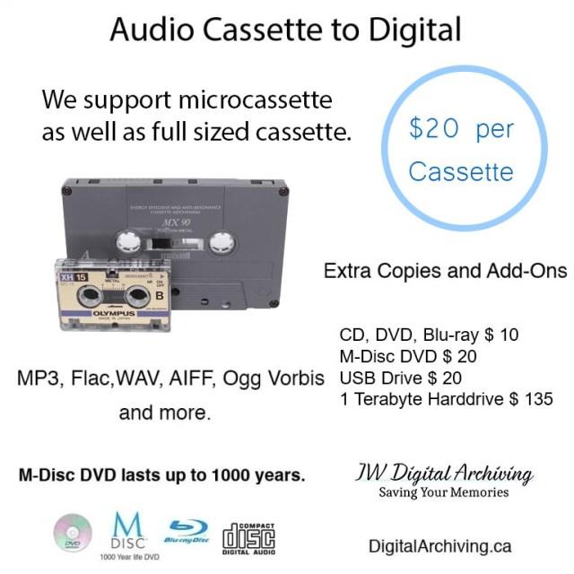 Cassette to Digital Regina