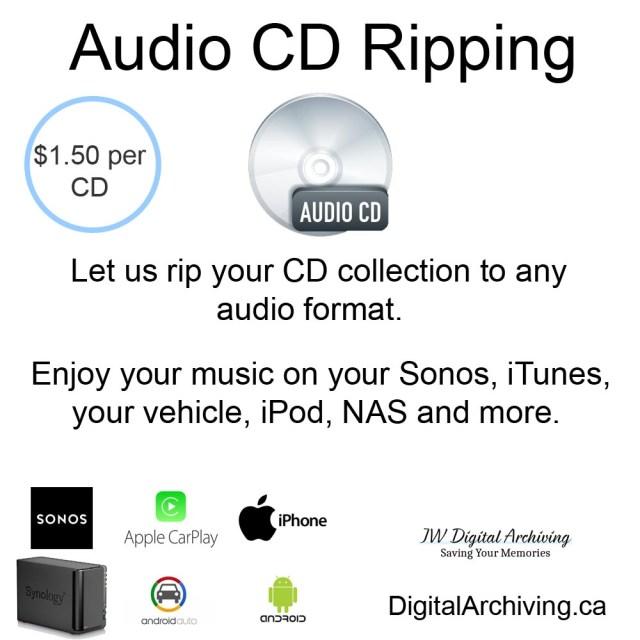 CD Ripping service Regina