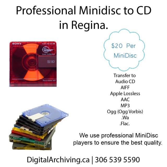 MiniDisc to Digital Regina