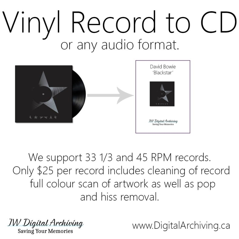 Vinyl to CD regina sk
