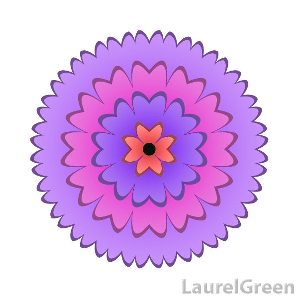 a vector picture of a chrysanthemum