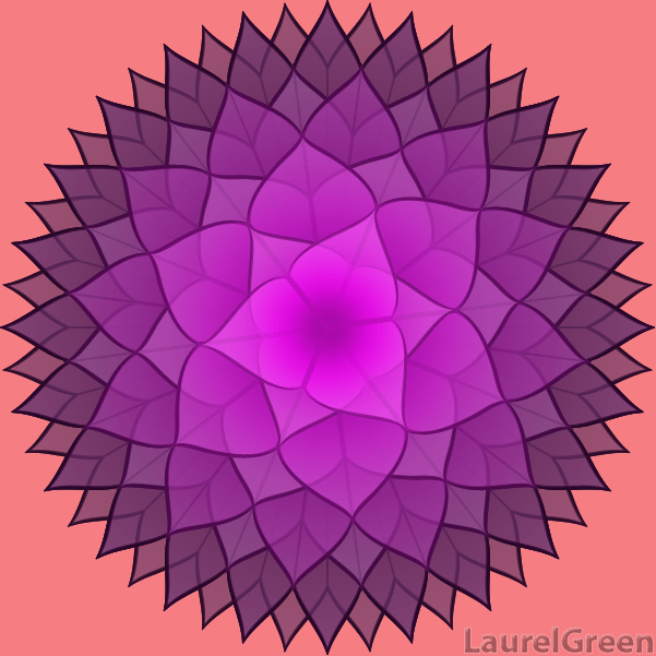 a vector picture of a complicated lotus flower