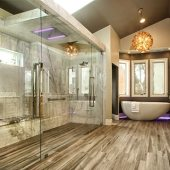 wood look tile in the shower daltile