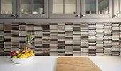 glass tile adds modern flair to any