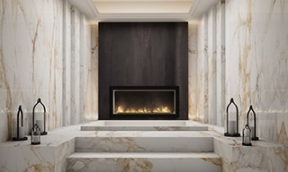 can i put tile on the fireplace daltile