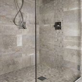 using a tile shower pan to create a