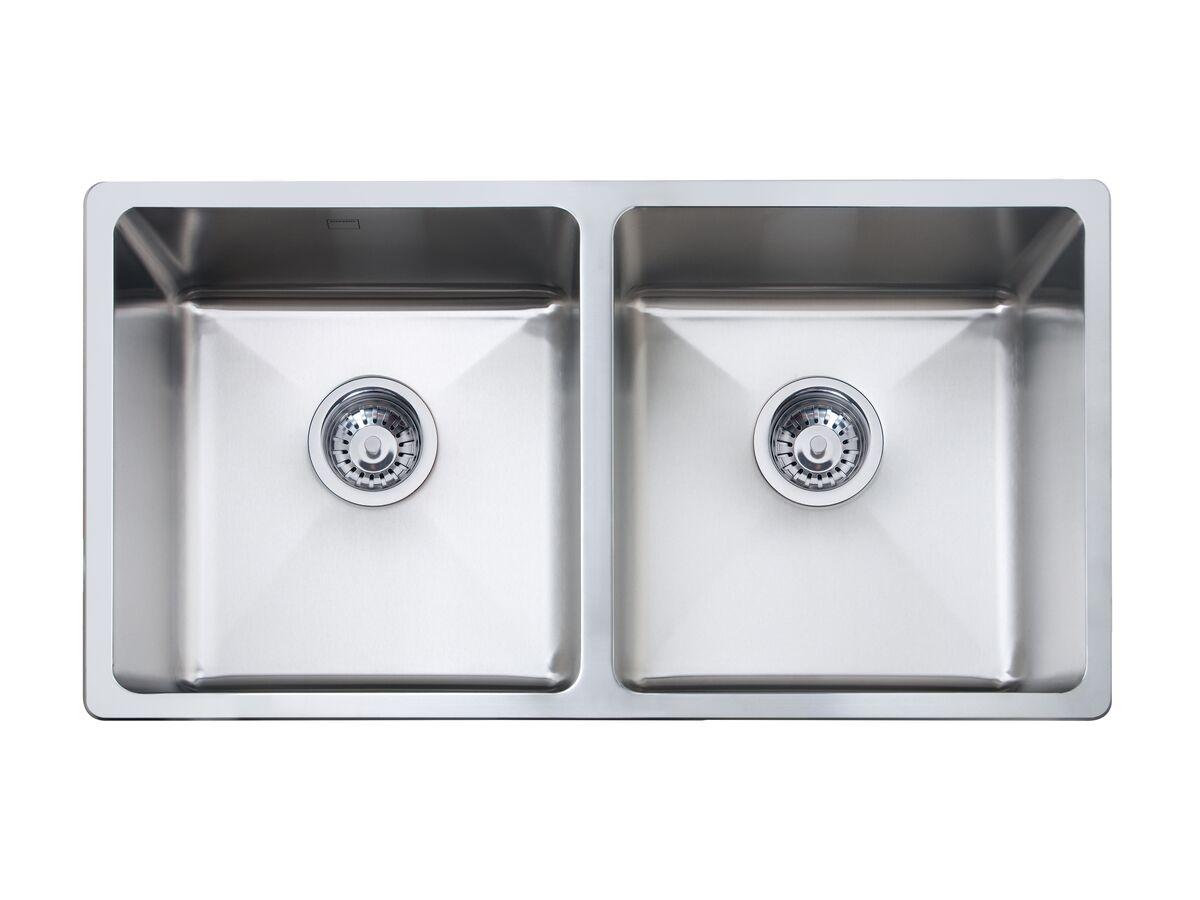 memo hugo double bowl sink no taphole