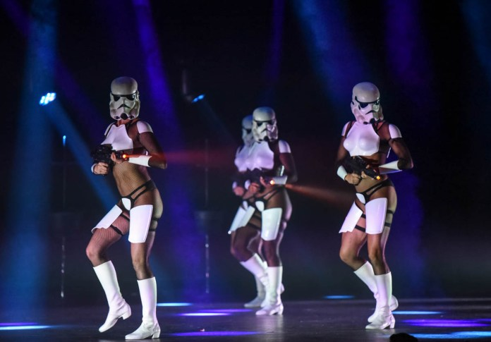 Sexy Stormtroopers and so much more in The Empire Strips Back: A Star Wars Burlesque Parody Photo Credit: ©Pix Meyers 2019