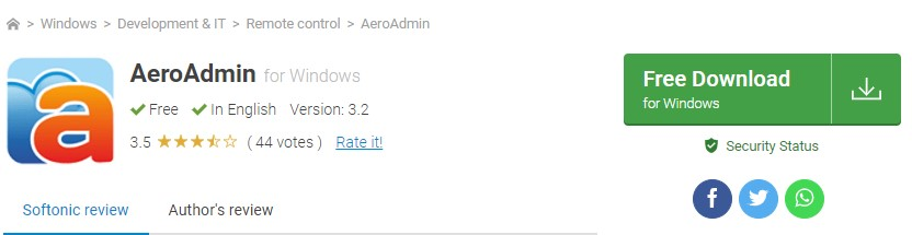 Aplikasi AeroAdmin