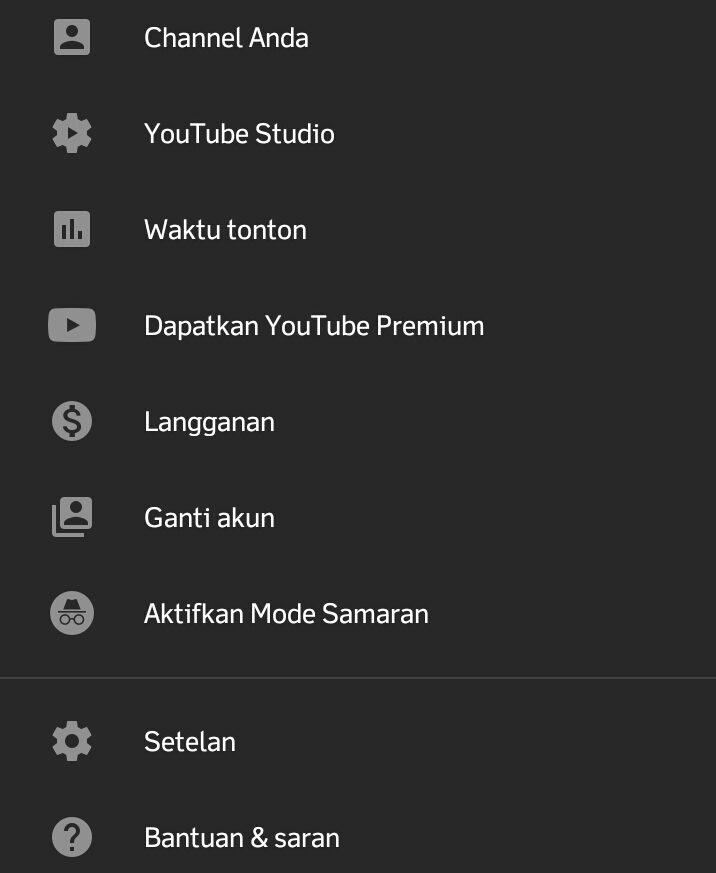 cara menghapus riwayat penelusuran youtube di hp android