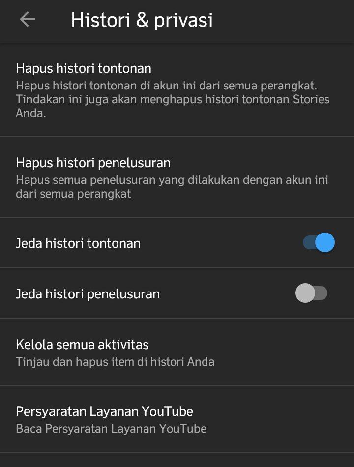 cara menghapus riwayat penelusuran youtube di hp androidcara menghapus riwayat penelusuran youtube di hp android