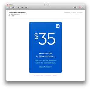 Square Cash Email